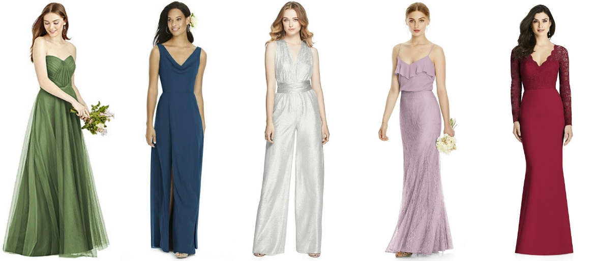 Must-Have Bridesmaid Dresses in Top Fall Colors