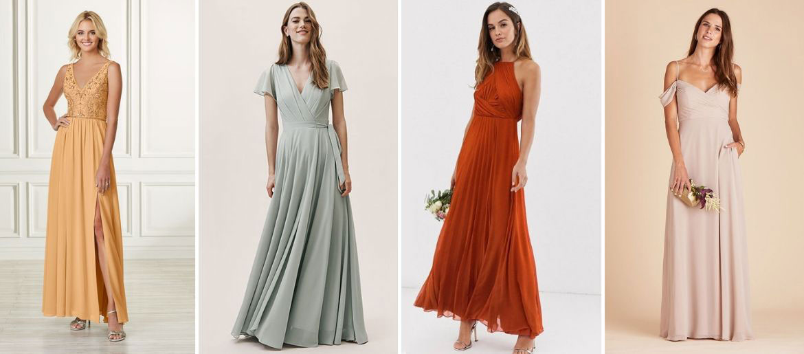 Bridesmaid Dresses in Every Color of the Rainbow