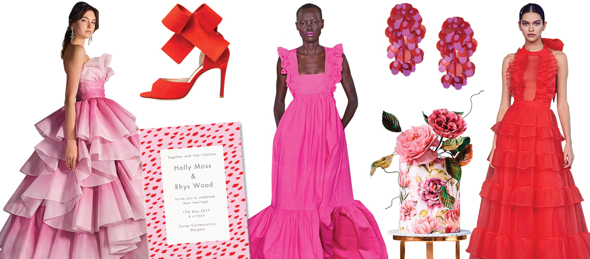 Pink and Red Dresses and Accessories
