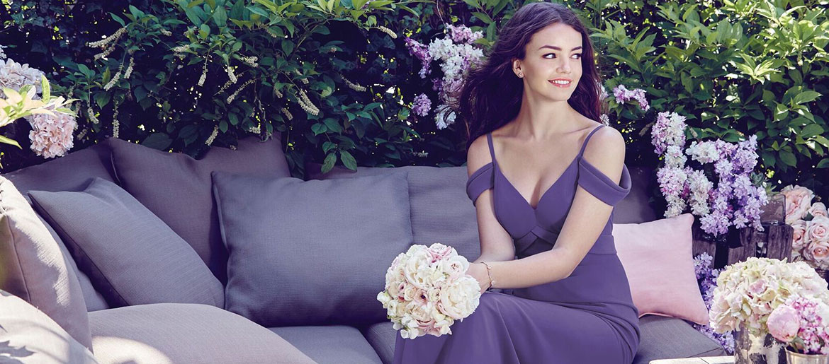 dessy bridesmaid dress ultra violet pantone color of the year
