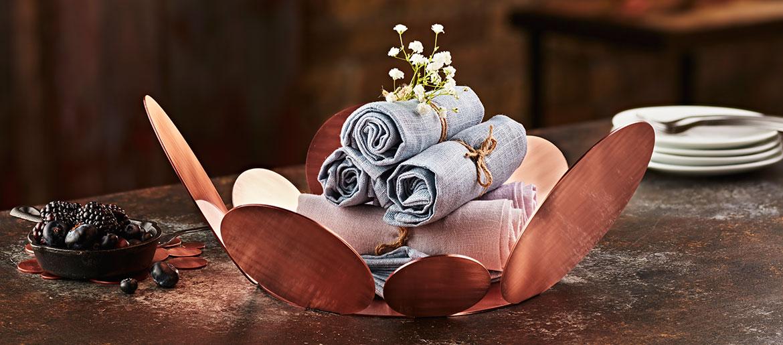 elleffe rose gold basket