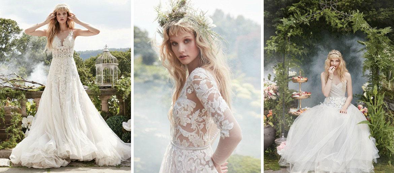 nature inspired wedding dress