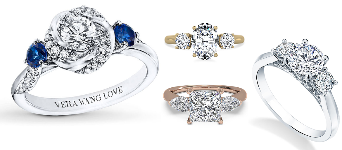 three-stone engagement rings worthy of a royal wedding
