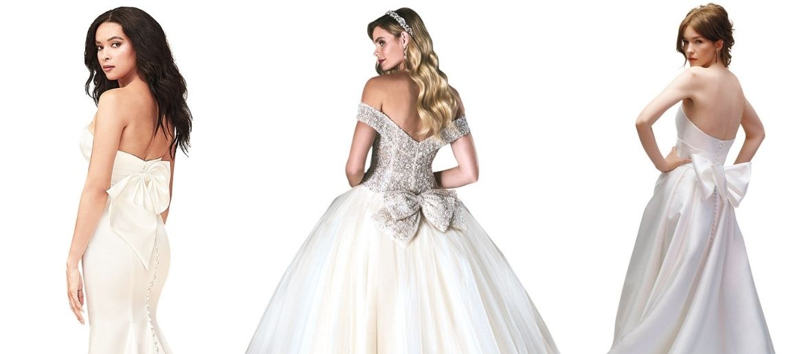 wedding gowns with bows