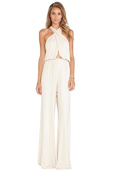35 gorgeous pantsuits and jumpsuits for brides bridalguide for Wedding dresses for tomboy brides