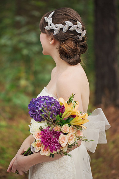 Centered Bridal Updo