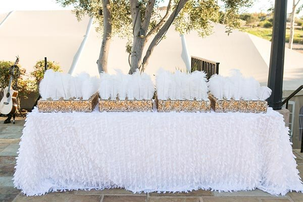 Feathered Escort Card Display
