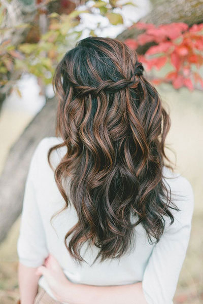 Waterfall Twist Hairstyle For Wedding