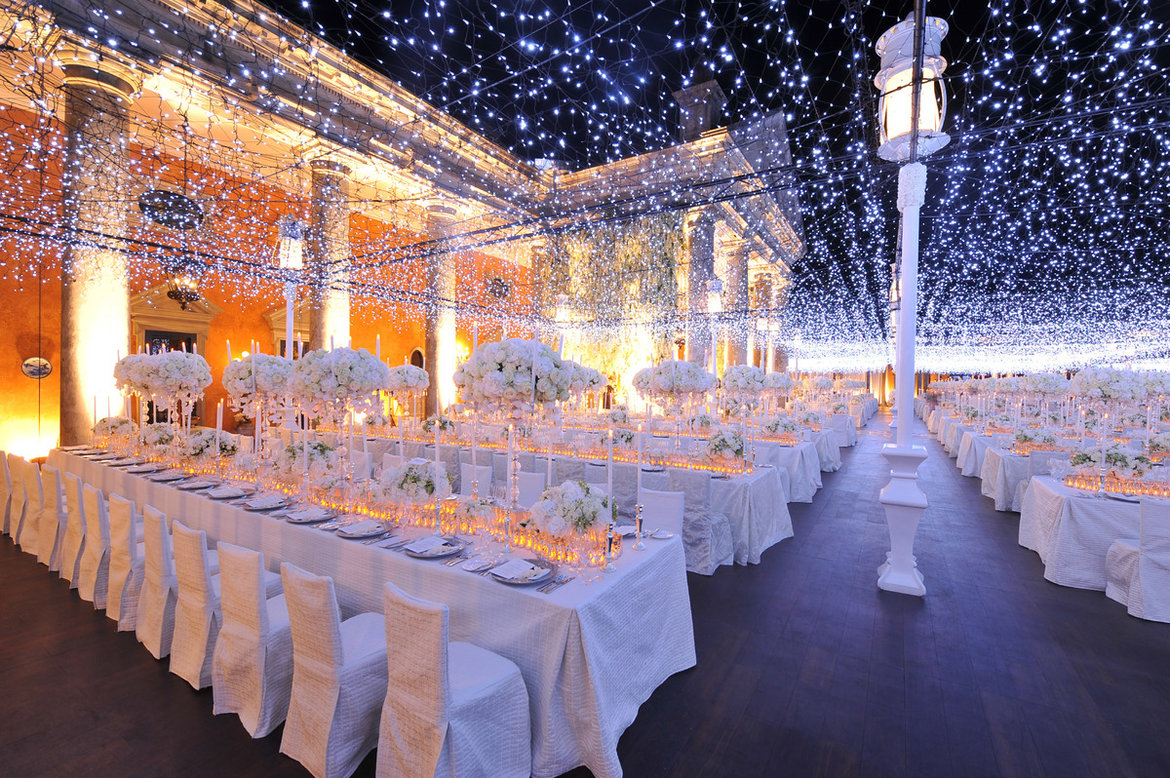 25 ways to transform your wedding with lighting bridalguide twinkling lights junglespirit Choice Image
