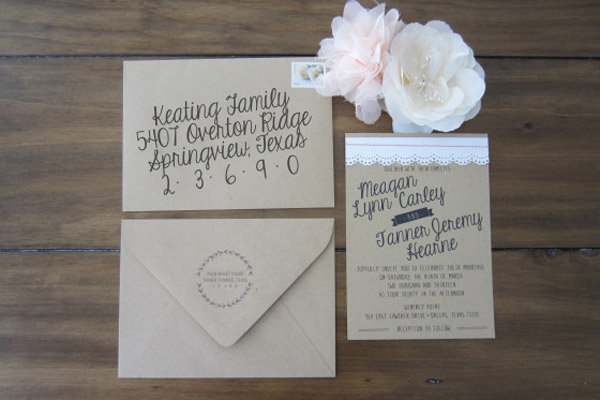 beginner vintage inspired invite - Make Wedding Invitations