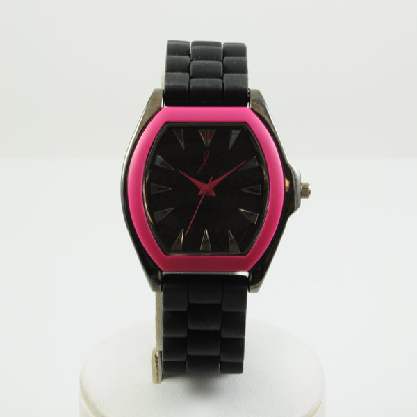 Bridesmaid Gifts: Black Watch with Pink Trim