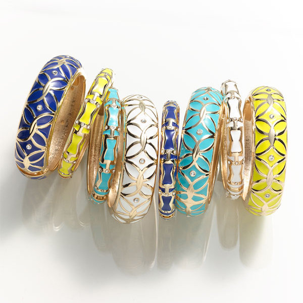 $50 and Under: Sequin 'Brights' Small Enamel Bangle