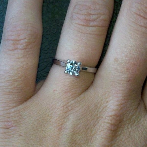 Classic Solitaire Engagement Ring From Crystal Mertke