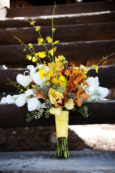 Orange, Yellow, and White Bouquet