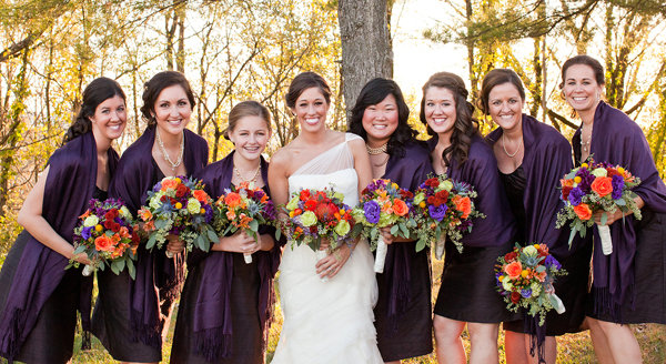 Bridesmaid Dresses For Fall Weddings Keep Your Bridesmaids Warm