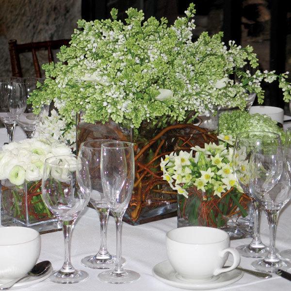 Curly willow centerpieces bridalguide