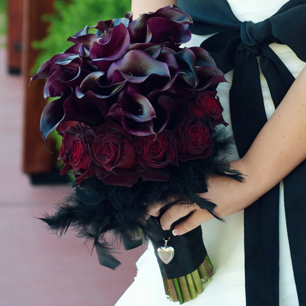 Burgundy and Purple Bouquet