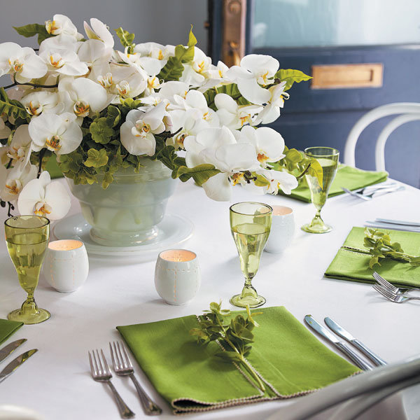 Wedding Inspiration: Green and White | BridalGuide