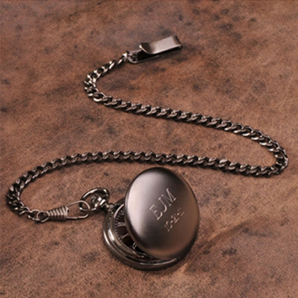 $50 and Under: Personalized Gunmetal Pocketwatch