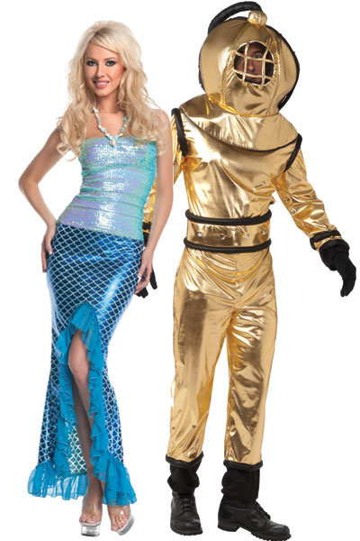 Mermaid and Deep Sea Diver