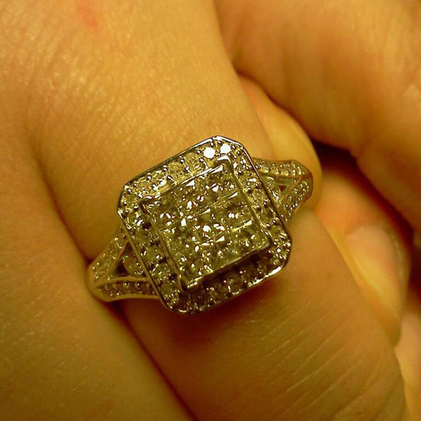 Halo Engagement Ring from Sam Feldpausch
