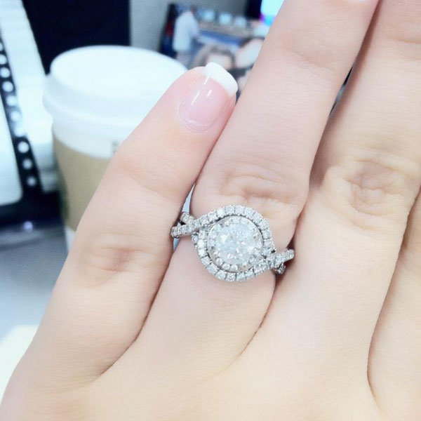Halo Engagement Ring From Stephanie Sheffield