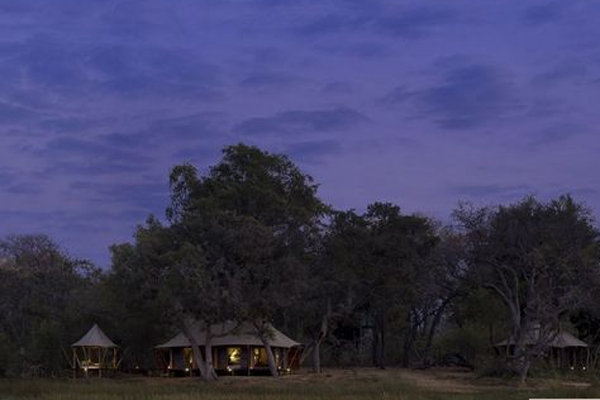 Tented Suite at andBeyond Xaranna Okavango Delta Camp in Botswana