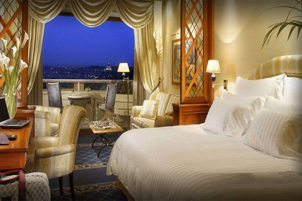 Concierge-Level Deluxe With a View at Rome Cavalieri Waldorf Astoria in Italy