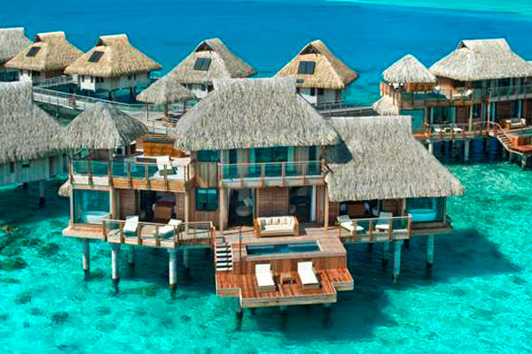 Presidential Suite at Hilton Bora Bora in Nui, Tahiti