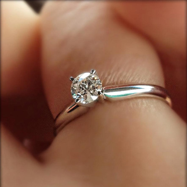 Classic Solitaire Engagement Ring From Jenny Lyn Triguero