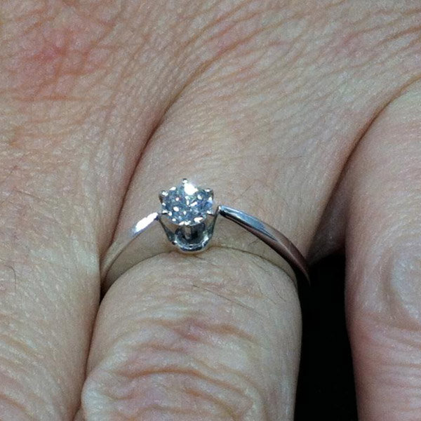 Classic Solitaire Engagement Ring From Kylie Tennyson