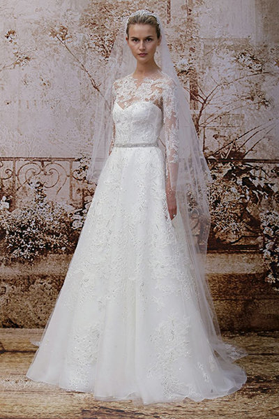 40 winter wedding gowns youll love bridalguide monique lhuillier junglespirit Gallery