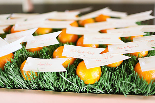 Edible Escort Card Displays