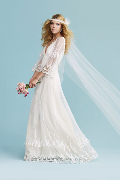 Trend we love vintage inspired dresses bridalguide for 1970 s style wedding dresses