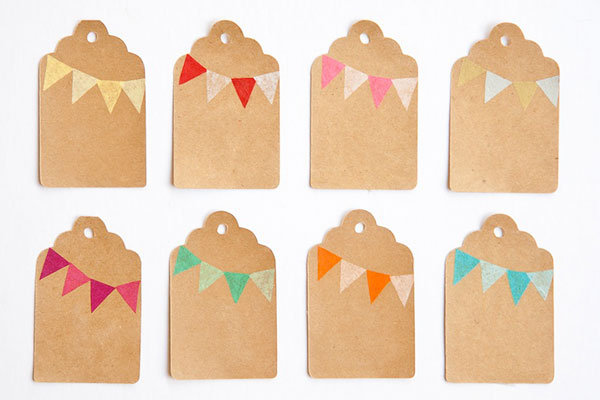 Bunting Gift Tags