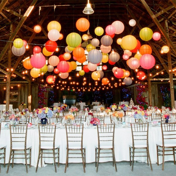 colourful wedding decoration