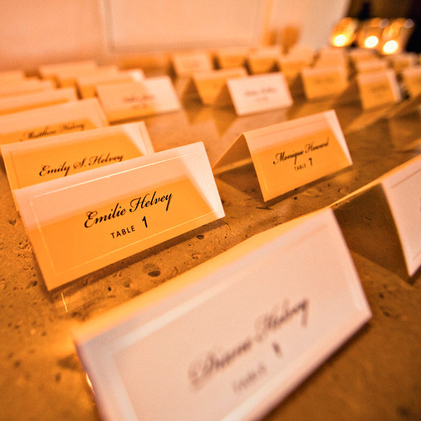 Reception: Escort Cards