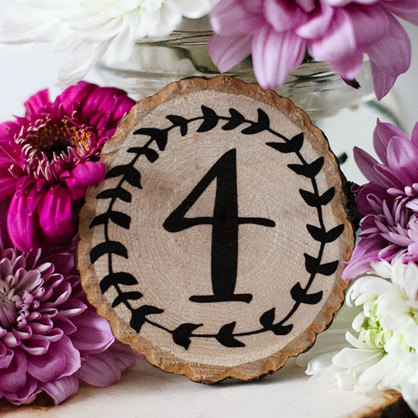 Vintage Wreath Table Numbers