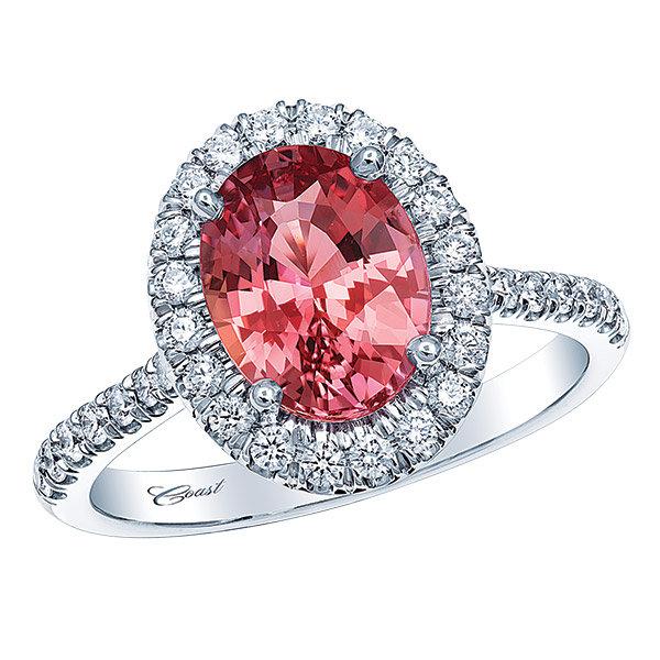 red sapphire - Rainbow Wedding Rings