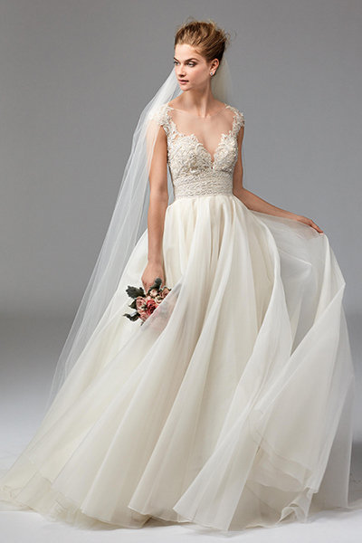 50 new wedding dresses with a sweetheart neckline bridalguide watters 161785 wedding gown junglespirit Choice Image
