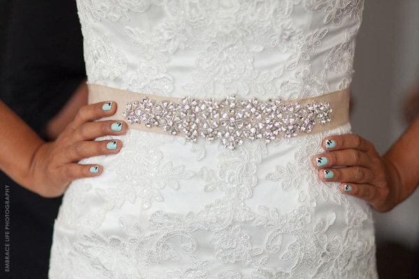 Blue Nails and Bows