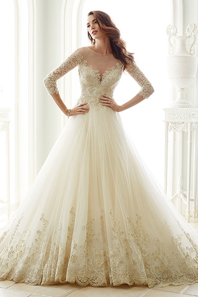 Our favorite fall wedding dresses bridalguide sophia tolli for mon cheri junglespirit