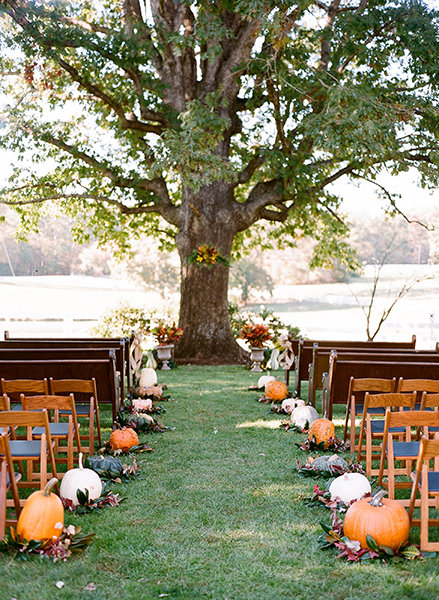 25 reasons to love an outdoor fall wedding bridalguide gorgeous gourds junglespirit Gallery