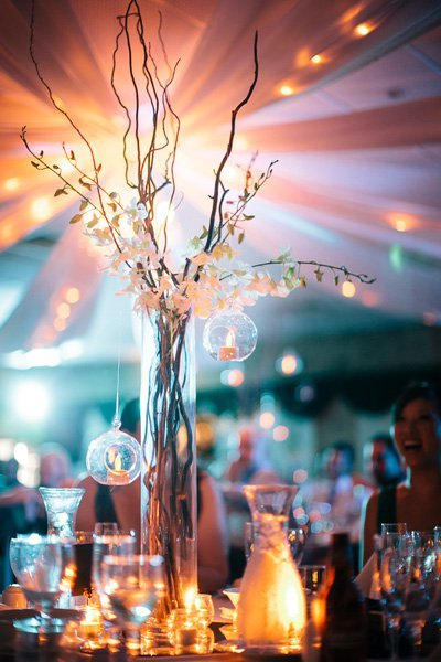 25 incredible centerpieces for fall weddings bridalguide branches junglespirit Gallery