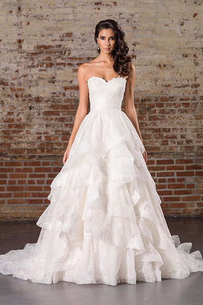 Gorgeous Wedding Dresses With Tiered Skirts | BridalGuide