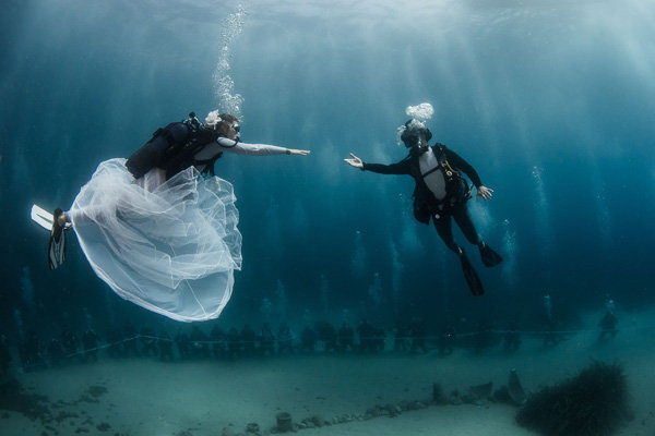 Underwater Wedding at Hôtel Métropole in Monte-Carlo