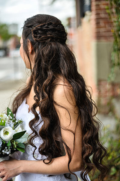 Dutch braid Hairstyle Foe Wedding