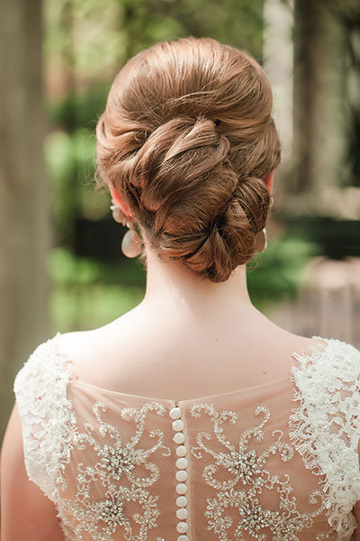 Coils Of Hairs Updo Wedding Hairstyle