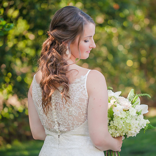 Faux Ponytail Wedding Hairstyle