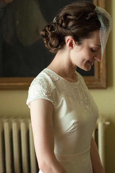 Low Side Bun Wedding Hairstyle